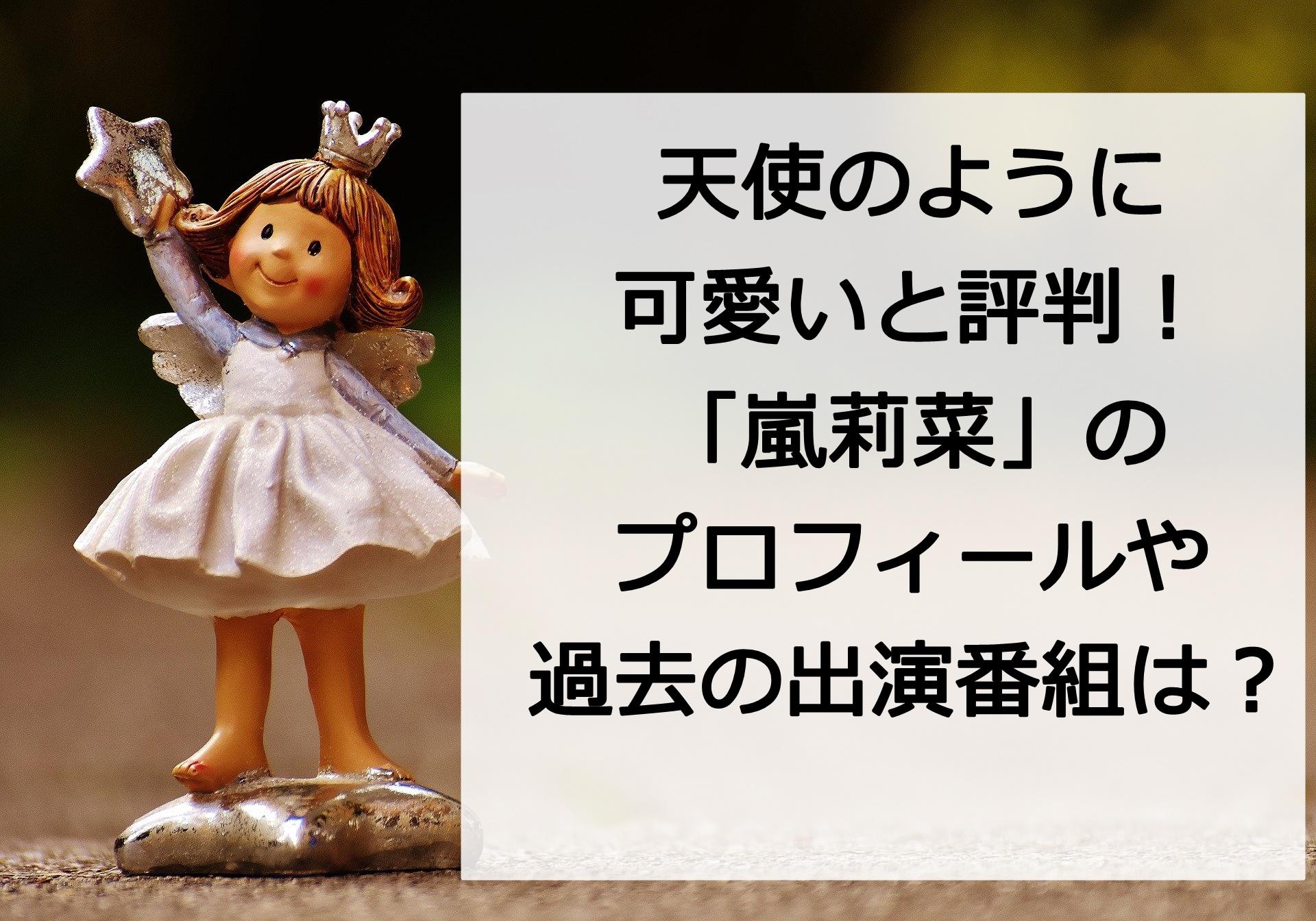 天使のような可愛らしさ【嵐莉菜】の年齢や身長は?過去のテレビ出演番組も紹介!