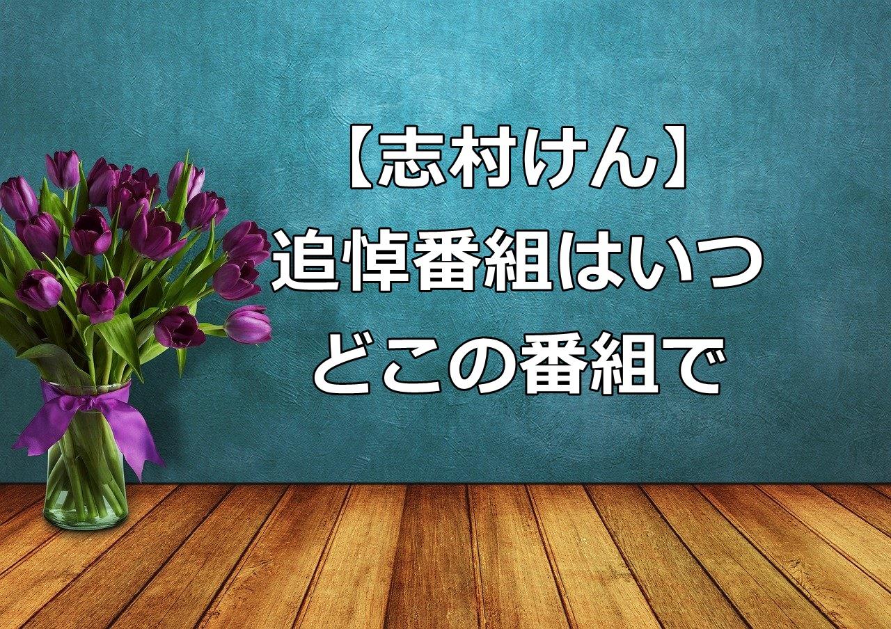志村けん追悼番組